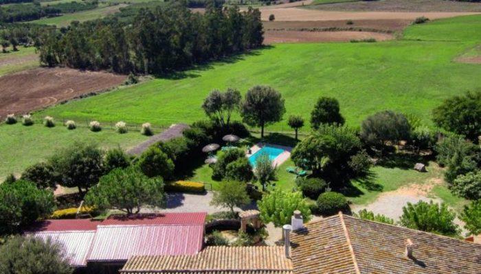 Vista aerea de Can Micos y sus vistas